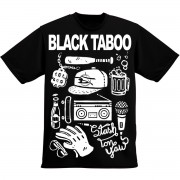 t-shirt Black Taboo – Stash ton yaw