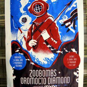 Poster Zoobombs + Oromocto Diamond