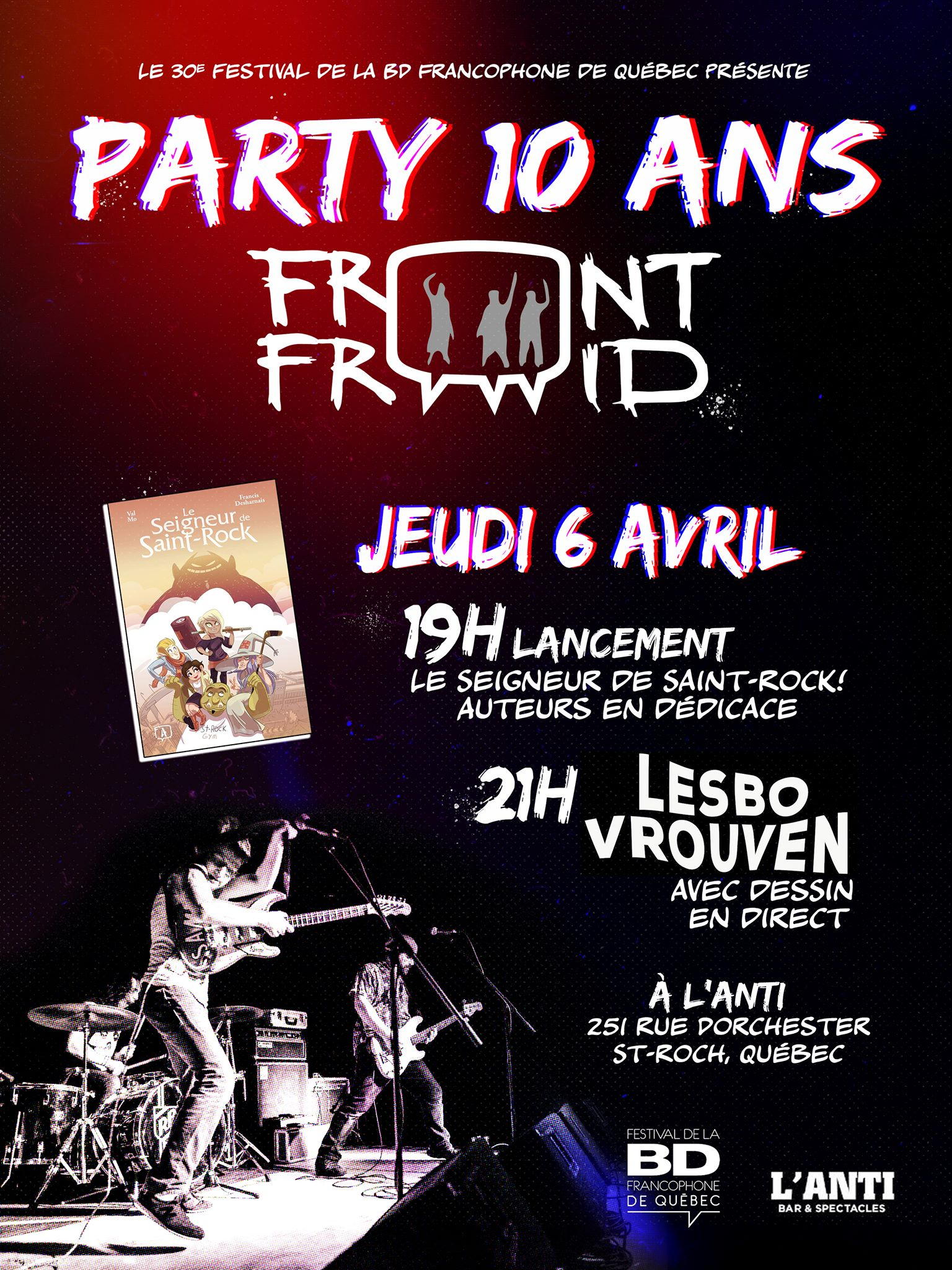 Party 10 ans Front Froid + Lesbo Vrouven